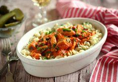 15 szaftos husi, amit mindenki imád | Mindmegette.hu Shrimp, Lunch, Meat, Ethnic Recipes, Food, Red Peppers, Eat Lunch, Essen, Meals
