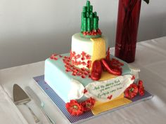 Bridal Shower cake in a Wizard of Oz theme.   Younique Cake Creations, Toronto