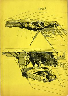 Alien / Sketch of the shuttle's release mechanism, by Ridey Scott for the benefit of associate producer Ivor Powell.