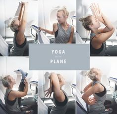 Yoga on the plane - 6 exercises for in between | www.juyogi.com