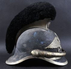 "TSARIST RUSSIA 1890 ""SPECIAL FIELD GENDARME"" HELMET, having nickel silver comb, chin scales and helmet plate"