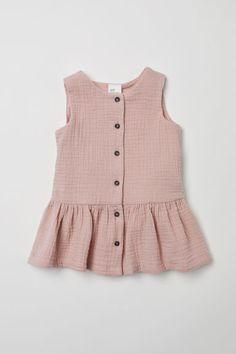 Pink muslin baby girl dress