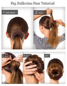 Hairstyle step by step on Pinterest | Updo, Side Buns and Easy Chignon
