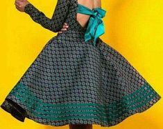 Yellow and green puff sleeves vintage flare polka dot african Seshoeshoe Dresses, Fashion Dresses, Flare, African Wedding Attire, African Fabric, African Prints, Shweshwe Dresses, Ankara Gowns, African Dresses For Women