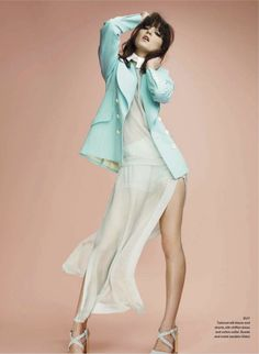 TOP HITS: IRINA LAZAREANU AND ZUZANA BY LEDA & ST.JACQUES FOR ELLE CANADA MARCH 2013 Editorial Fashion, Fashion Art, Fashion Show, Woman Fashion, High Fashion Poses, Irina Lazareanu, Hollywood Actress Photos, St Jacques, The Perfect Girl
