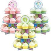 Baby Feet Cupcake Stand $6.99  www.partycity.com
