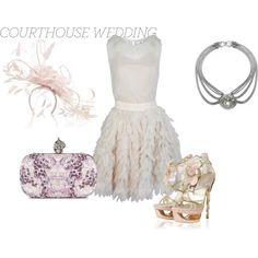 Courthouse Wedding, created by bekahdl on Polyvore