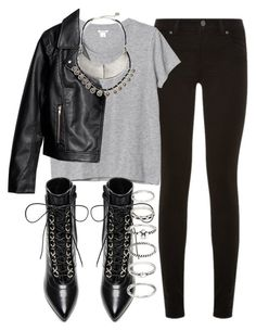 """Untitled #2102"" by alicia-b-13 ❤ liked on Polyvore featuring Paige Denim, Monki, Yves Saint Laurent, Free People and Forever 21"
