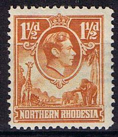Northern Rhodesia Stamps 1938 Animals SG 30 Fine Mint Scott 30