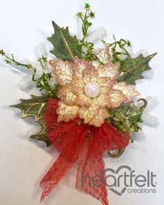 Heartfelt Creations   Poinsettia Snowflake Ornament