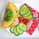 Kukuřičná omeleta s kukuřicí a špenátem