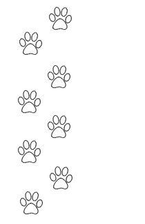 Pisadas de perro para bordar en plantilla
