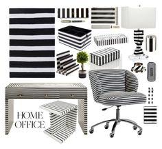 """Home Office"" by marionmeyer on Polyvore featuring interior, interiors, interior design, Zuhause, home decor, interior decorating, Worlds Away, Kate Spade, PBteen und Room Essentials"