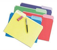 Pendaflex File Folders with Erasable Tabs