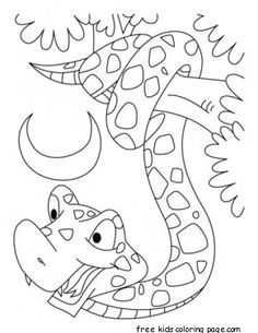 Printable King cobra snake coloring pages