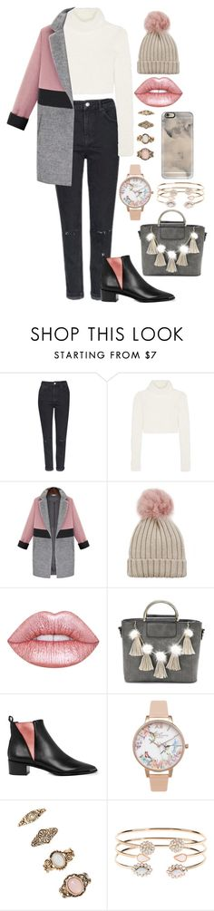 """""""Subtle Pink"""" by unknownbee ❤ liked on Polyvore featuring Topshop, Roberto Cavalli, Jocelyn, Lime Crime, Acne Studios, Olivia Burton, Forever 21, Accessorize and Casetify"""