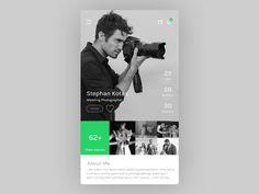Profile Screen by Rahul