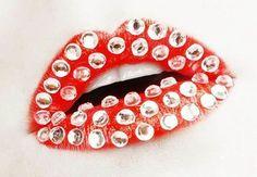 Crazy Lips Art...diamonds!