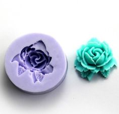 Wholeport 1-Hole Blooming Floral Resin Mold Clay Molds Handmade Resin Mold Polymer Clay Mold * Be sure to check out this awesome product.