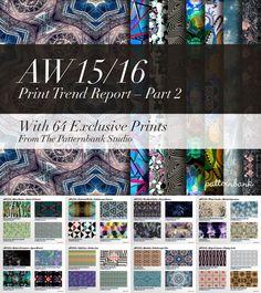 TRENDS // PATTERNBANK - PRINT TREND REPORT PART 2 - AW 15/16 - FASHION VIGNETTE
