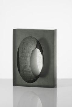 "Richard Whiteley formatting Oscillate 2013 cast glass 13.875"" x 10"" x 4.625"""