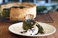 Kale, Preserved Lemon and Pine Nut Tart - Maggie Beer