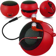 Fone-Case Blackberry Torch 9810 Mini Capsule Rechargable Loud Speaker Jack To Jack Input & In Ear Earbud Earphones (Red) Blackberry Torch, Christmas Gifts For Her, Popcorn, Ear, Mini, Christmas Gifts For Sister