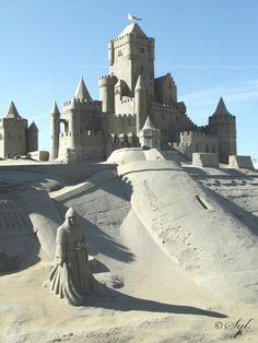 Sand castle. by WALKING-GIRL.deviantart.com on @deviantART