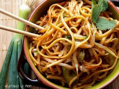 VEGETABLE LO MEIN: ½ lb Lo Mein Noodles or Linguini cooked, Sesame oil, ¼ C oyster sauce, 2 Tb soy sauce, 1 Tb canola oil, 1 Tb minced fresh ginger, 3 cloves garlic minced, 3 scallions sliced, 1 C julienne carrot, 1 C thin sliced celery, 1 C thin sliced shallot/red onion, 1 C fresh bean sprouts ~ To have as a Main Dish: add Chicken, Pork, or Shrimp!!