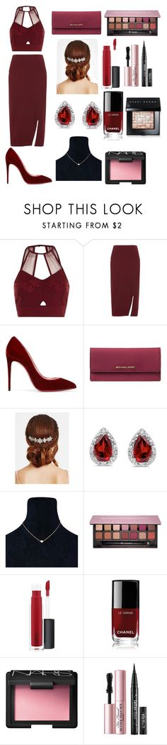 """Untitled #57"" by xdhx16 ❤ liked on Polyvore featuring River Island, Whistles, Christian Louboutin, MICHAEL Michael Kors, Jon Richard, Amanda Rose Collection, Anastasia Beverly Hills, John Lewis, Chanel and NARS Cosmetics"