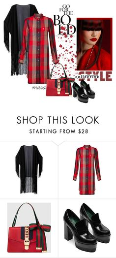 """Ready for Fall"" by marastyle ❤ liked on Polyvore featuring WithChic, Levi's and Gucci"