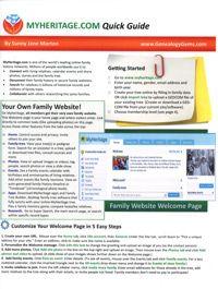 MyHeritage.com Cheat Sheet