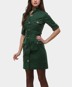 Look what I found on #zulily! Almatrichi Verde Portobello Tie-Waist Dress by Almatrichi #zulilyfinds