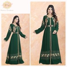 Your festive wardrobe is incomplete without an outfit in this perfect shade of green. 💚  Our pick is this ravishing Jasmine Designer Robe.  Product no: 8031 Jasmine Bridesmaids Dresses, Designer Bridesmaid Dresses, Kaftan Abaya, Georgette Fabric, Shades Of Green, Green Dress, Party Wear, Color Mixing, Festive