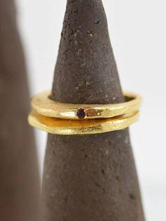 Anello 2 anelli fatti a mano regalo rivestimento anello