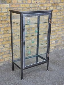 Oooh! Pretty, simple, and lots of glass - a perfect display case for my antique camera collection. Or maybe my bird and nest collection. Or maybe to display all of my handmade jewelry. The possibilities are endless. Maybe I should have several;-)