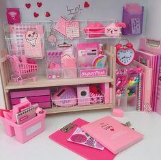 Kawaii babygirl kidsroomsdecor kidsroomideas organization pink is part of Room decor - Study Room Decor, Cute Room Decor, Kawaii Bedroom, Cute Stationery, Stationary, School Stationery, Cute School Supplies, Girl Bedroom Designs, Aesthetic Rooms