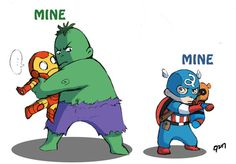 Avengers Babies. So cute, but I will fight Baby Hulk for Baby Iron Man!
