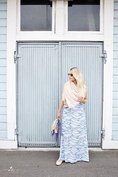 Dress from Lidl summer kesä kesäasu preppy blue dress style tyyli muoti päivän asu