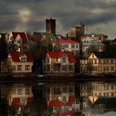 Reykjavik, Iceland.  Mirror Mirror, tell me who is.... by Sverrir Thorolfsson