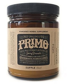 Natural herbal supplement Analgesic Antiinflammatory Antispasmodic Nourishing to connective tissue  joints  SUPPLE organic botanical powder extract by Primo Pet Products catdog  8oz * Continue to the product at the image link.