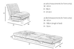 Titch Sofabed Dimensions