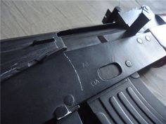 1:1 AKM Assault Rifle Paper Model by Stanislav Mekhine - http://www.papercraftsquare.com/11-akm-assault-rifle-paper-model-by-stanislav-mekhine.html#11, #AKM, #AKS74, #FullSize, #Gun, #Rifle