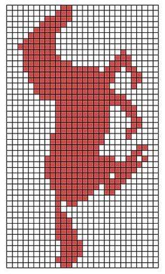 Dual Sided Horse Scarf pattern by Miranda Stanbery Horse_pattern_image_medium Fair Isle Knitting Patterns, Bead Loom Patterns, Beading Patterns, Cross Stitch Borders, Cross Stitch Patterns, Crochet Horse, Swedish Weaving, Horse Pattern, Horse Crafts