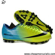 new style 50d3f 208c0 Buy 2013 CR Green Black Blue Nike Mercurial Victory 4 AG SE Football Shoes  Cleats Football