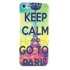 Colored Painting Hard PC Case for iPhone 5C - Paris