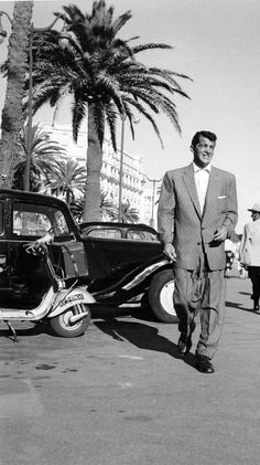 Dean Martin - arriving at the studio for work - Dean never backed-up faced to hard work - that's why he was so successful - web source -MReno