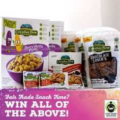 Introducing #FairTrade Certified #cereal from @cascadianfarm! Enter the #giveaway here: http://fairtrd.us/1C59DTL #win #productlaunch #announcement