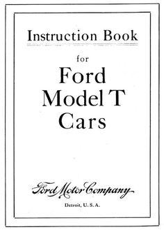 1911 Instruction Book