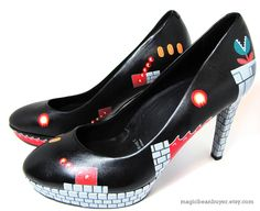 Custom Hand-Painted Super Mario Heels